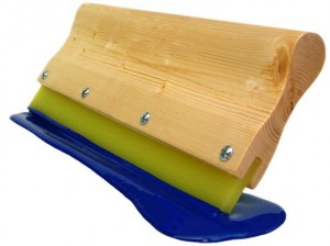 Squeegee wooden handle